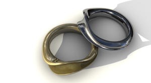 3D model of two rings.