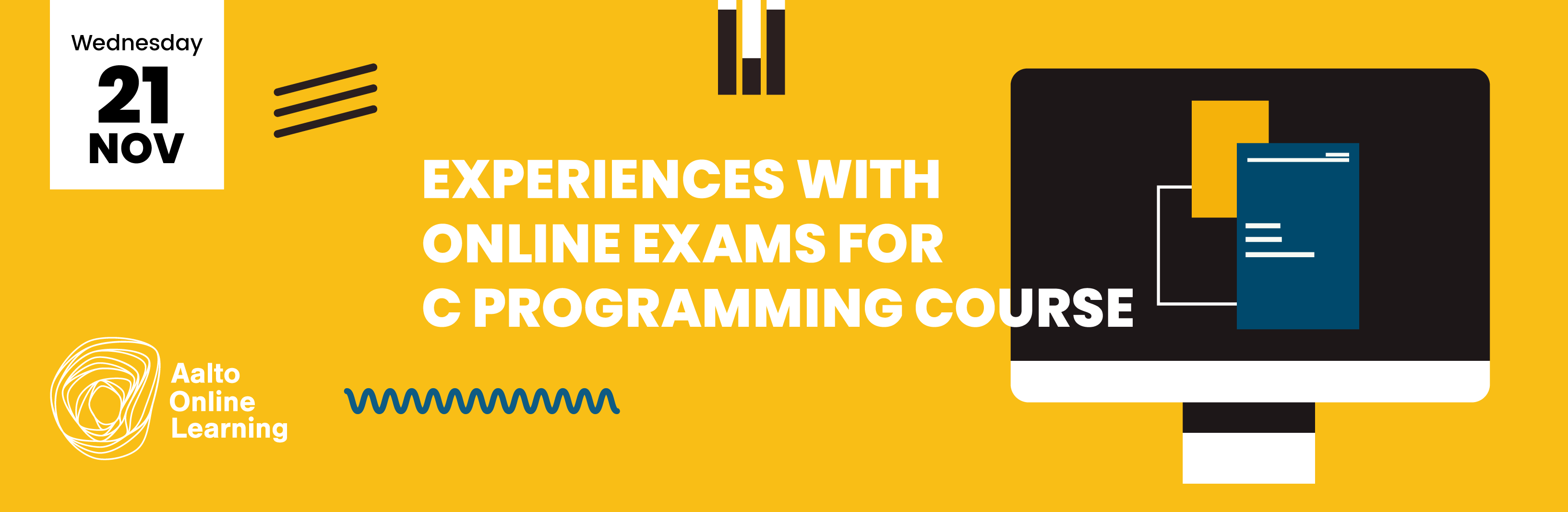 Experiences with online exams for C programming course