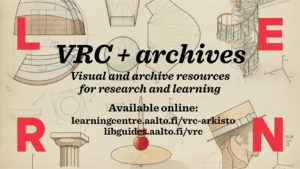 VRC + Archives pilot picture saying visual and archive resources for research and learning.