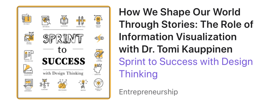 "Sprint to Success podcast visited by Tomi Kauppinen: ""How We Shape Our World Through Stories: The Role of Information Visualization """
