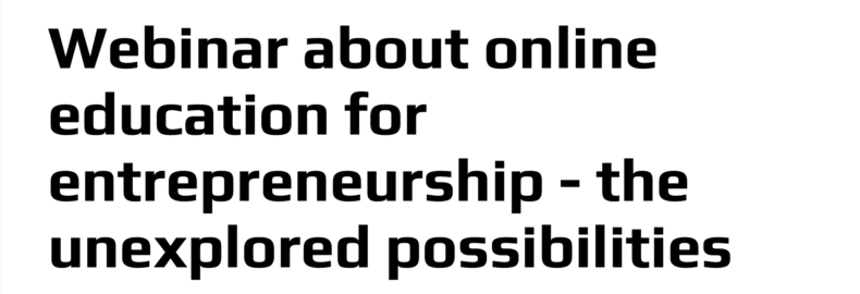 Interview to a Danish webinar about online-based entrepreneurship education
