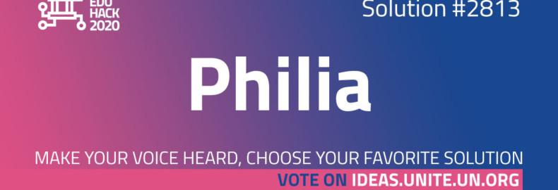 Philia, the winner of our Learning with AI challenge nominated as a finalist!